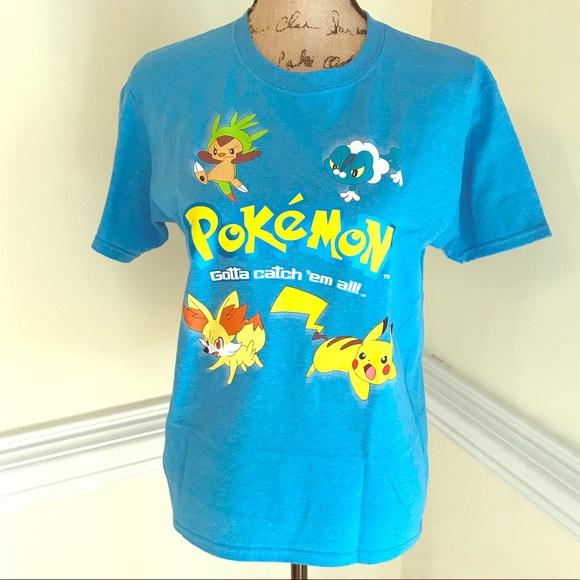 52f0833b Pokemon Shirts & Tops | Pokmon Go Tee Shirt Blue Metallic Girls Boys ...